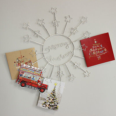 white metal vintage style christmas card holder xmas decoration home chic