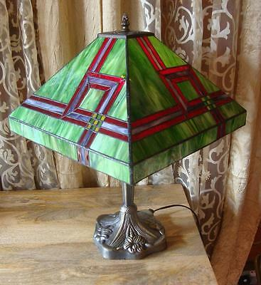 Large Stained Glass Tiffany Table Lamp - 51cm High - 36cm Shade Diameter