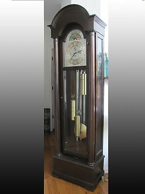 Herschede Hall  Grandfather Clock 5 tubes Model Grand Prize w/ Moon Face