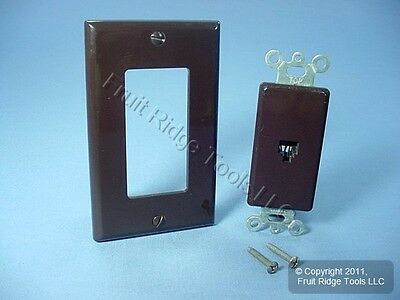 Leviton Brown Decora Phone Jack Telephone Wall Plate 40649-001 Bagged