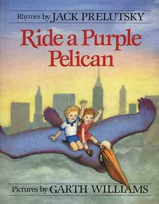 Ride a Purple Pelican by Jack Prelutsky (English) Hardcover Book Free Shipping!