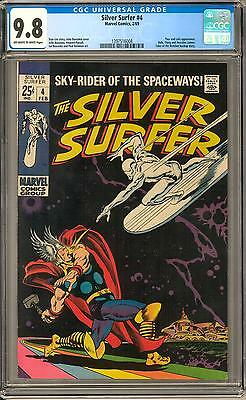 Silver Surfer #4 CGC 9.8 (OW-W) Classic Cover Highest Graded Copy