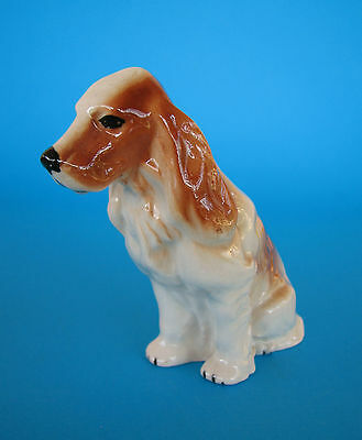 Vintage Tan & White Cocker Spaniel Dog Ornament Figurine Made in England