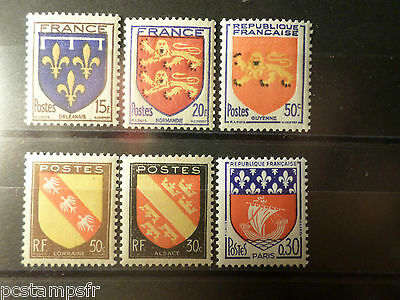 FRANCE, LOT timbres types ARMOIRIES, neufs** LUXE, VF MNH STAMPS