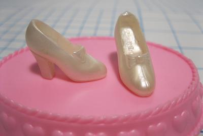 BARBIE DISNEY PRINCESS SLIPPERS PUMPS SHOES Pearl Ivory Wedding Bride Ariel more