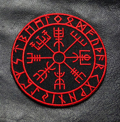 Viking Compass Vegvisir Odin God Mad Max Iron On Patch