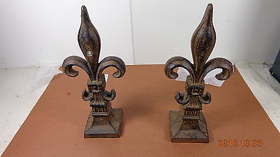 Cast Iron FLEUR DE LIS Finial - New Orleans Saints SYMBOL A PAIR - YOUR BUYING 2