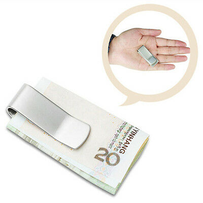 New Stainless Steel Slim Money Clip Purse Wallet Credit Card ID Cash Holder Fad
