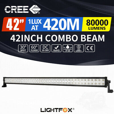 42inch CREE LED Light Bar Spot Flood Combo Offroad Driving Truck 4WD 50/52""