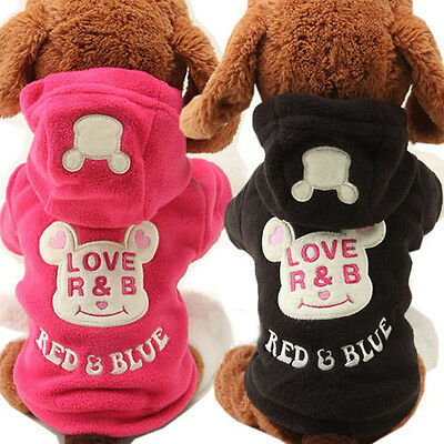 Pet Dog Puppy Warm Winter Bear Sweater Hoodie Jumpsuit Coat Clothes Outwear  New