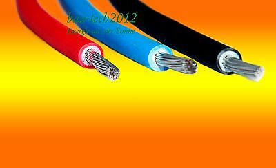 red black blue Solar cable 4mm² with/without MC4 connector