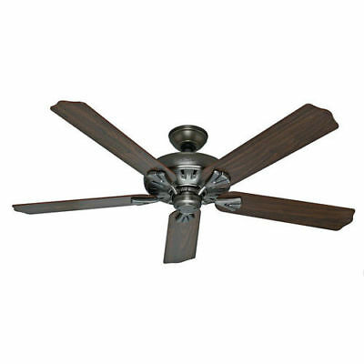 """Hunter 60"""" Royal Oak Antique Pewter Ceiling Fan with Handheld Remote 54017 new"""