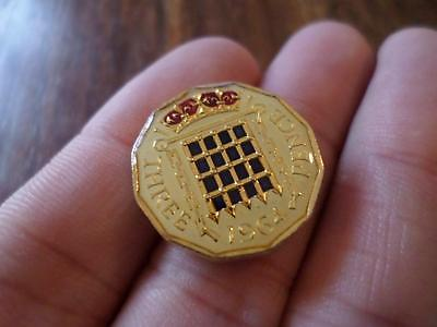 Lucky Charm Vintage Enamelled Threepence Coin 1964. Birthday Xmas Christmas Gift