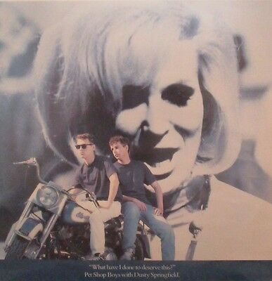 """PET SHOP BOYS & DUSTY SPRINGFIELD ~ What Have I Done To Deserve This ~ 12"""" PS"""