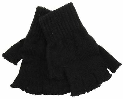 Mens Medium/Large Black Thinsulate Fingerless Gloves