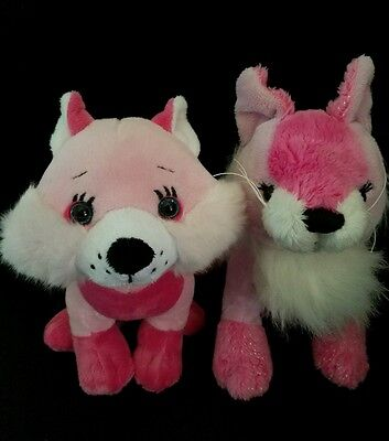 Webkinz PLUSH ONLY LOT of 2:  LOVELY FOX +  FROOFROO FOX - JUST the PLUSH !!!!!