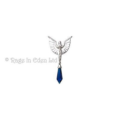 *ANGELIC CHAIN* Silver Plate Crystal Keeper Pendant & Chain By Anne Stokes CK01