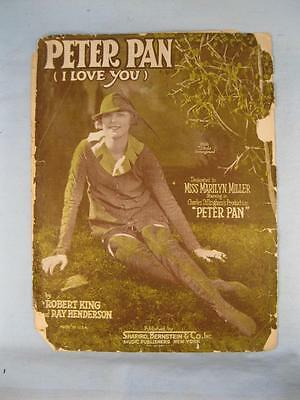 Peter Pan I Love You Sheet Music Vintage 1924 By Robert King Henderson (O) AS IS