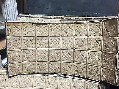 GORGEOUS antique VICTORIAN tin ceiling pressed FLORAL BOW pattern 24.75 x 48""