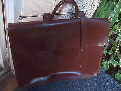 Vintage/brown Leather Music Case