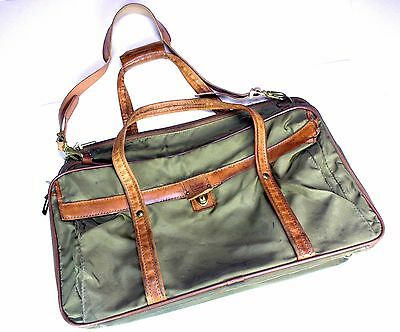 Hartmann Intensity Nylon & Leather Weekender Duffle Bag Carry On Vtg Belted