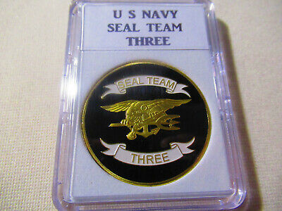 US NAVY SEAL TEAM THREE Challenge Coin