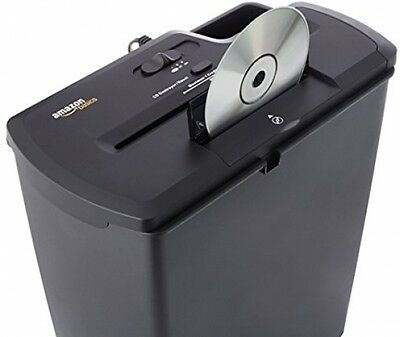 AmazonBasics Paper Shredder 8-Sheet Strip-Cut Paper, CD and Credit Card Shredder