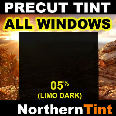 Precut All Window Film for Nissan Frontier Crew 00-04 05% Limo Tint