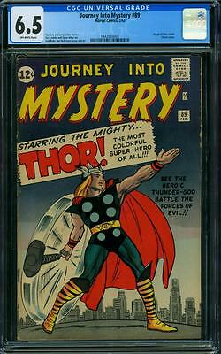 Journey Into Mystery 89 Cgc 6.5 - Ow Pages - Classic Cover - Thor Origin Retold