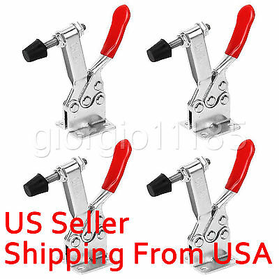 2 pcs 201B Horizontal Toggle Clamp Quick Release Tool Holding 90Kg 198Lbs New