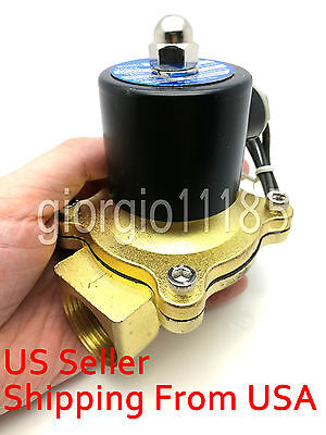 "New 12v DC 1"" Electric Solenoid Valve Diesel Gas Water Air 2W250-25 NC 1 inch"