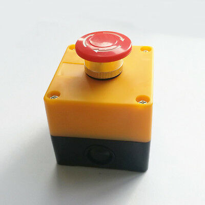 New Red Sign Emergency Stop Push Button 660V 10A Switch CE