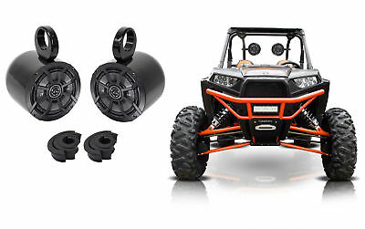 "Pair Kicker 6.5"" Rollbar Rollcage Speakers For Polaris/JEEP/ATV/UTV/RZR/CART"