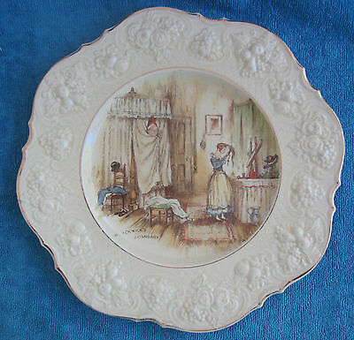 vintage CROWN DUCAL England DICKENS Pickwick Papers Mr Pickwicks Quandarry PLATE