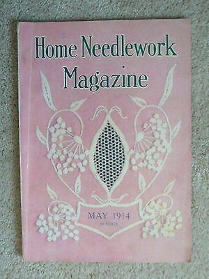 Home Needlework Magazine - May 1914 - Crochet Embroidery - Very Good Condition