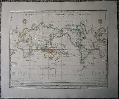 1848 Stieler map PLANIGLOB IN MERCATOR'S PROJECTION (#9)