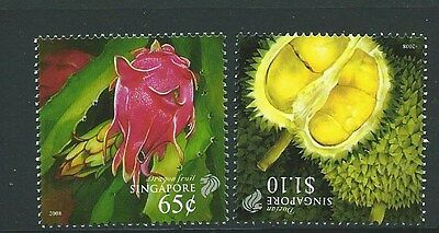 Singapore Sg1824/5 2008 Fruits  Mnh