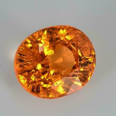 3.25Carat100%Natural Mandarine Orange Color Cushionl Cut Madagascar Spessartite