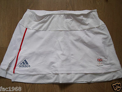 Team GB Great Britain Beijing 2008 Olympics Women's Skirt Short Adidas UK 12 New