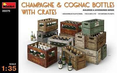 Miniart 35575 - 1/35 Champagne & Cognac Bottles With Crates - Neu