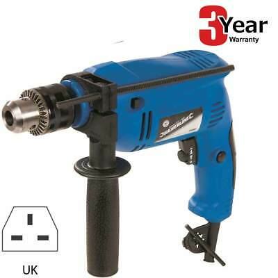 500W Variable Speed Electric Hammer Action Power Drill - Steel Concrete & Wood