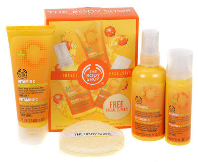 Body Shop Vitamin C Energising Exfoliator Skin Boost Womens Skincare Gift Set