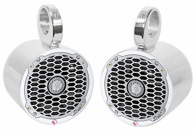 "Pair Rockford Fosgate PM2652B 6.5"" 340 Watt Marine Boat Wakeboard Tower Speakers"