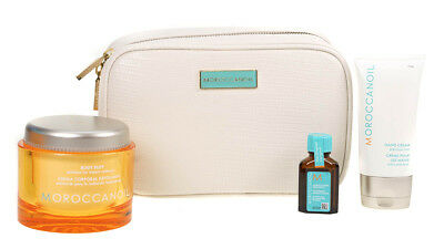 Moroccanoil Body Renew Collection Body Buff Polish Hand Cream Hair Oil Gift Set