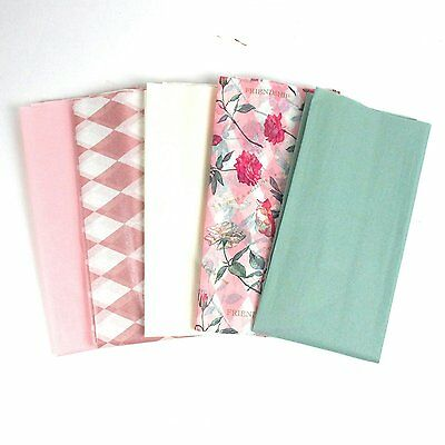 15 Sheets of Beautiful Pinks, Creams, Greens and Floral Tissue Paper