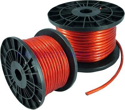 20FT 8GA 8AWG CCA Red Power Cable Wire Heat Resistance for Sound Car Audio AMP