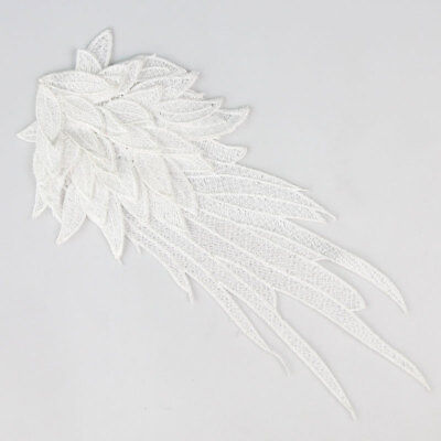 Venise Black/White Lace Trim Embroidery Wing Sewing Applique DIY Motif Craft 1PC