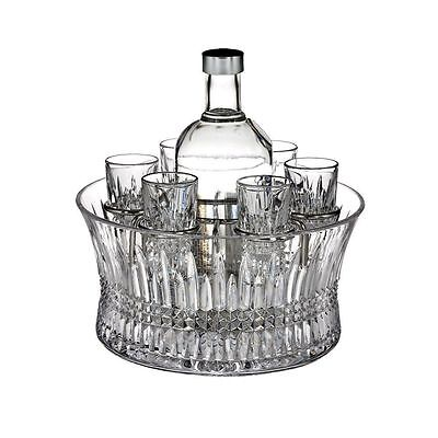 Waterford Crystal Lismore Diamond Vodka Set & Includes 6 Shot Glasses
