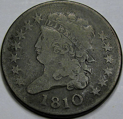1810 Classic Head Half Cent Choice VF-EF... So Nice and Original! A Great Coin!!