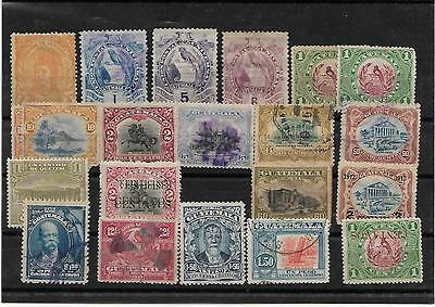 1878/1910- Guatemala- Lot 20 Stamps-Old Colection -No Gum